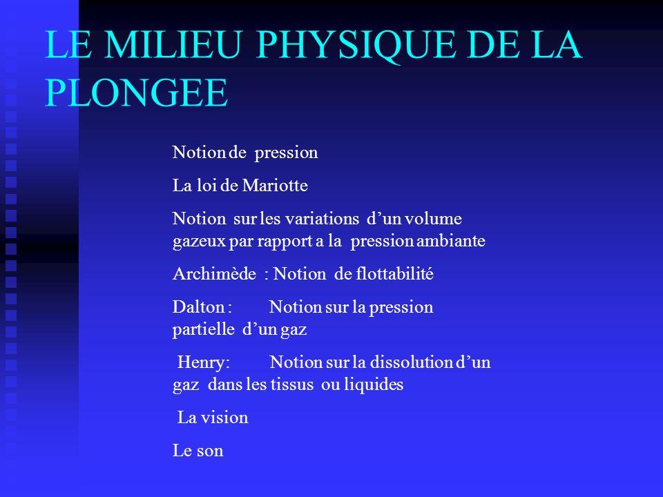 Diapositive de résumé LE MILIEU PHYSIQUE DE LA PLONGEE LE MILIEU PHYSIQUE DE LA PLONGEE LES ACCIDENTS LES ACCIDENTS 1. LES ACCIDENTS MECANIQUE OU BARO