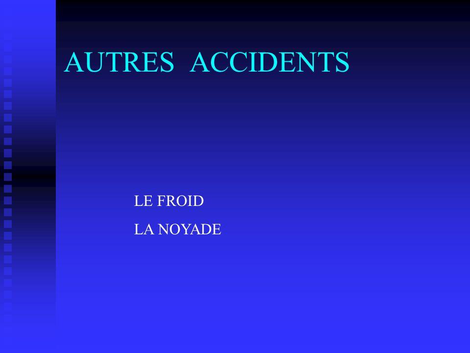 AUTRES ACCIDENTS LE FROID LA NOYADE