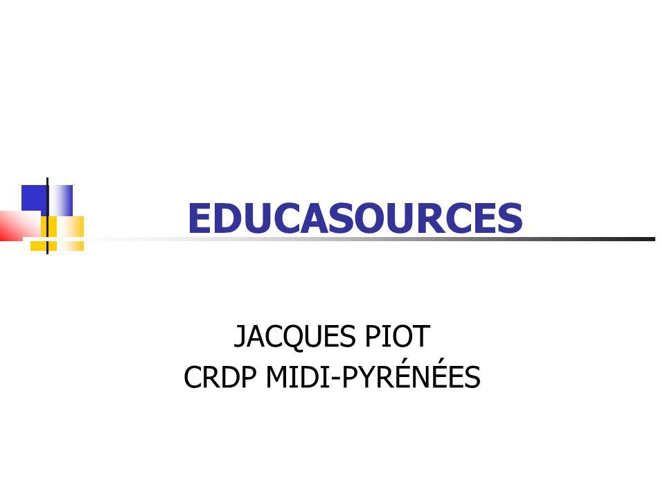EDUCASOURCES Base de données en ligne Ressources en ligne fiables Ressources en adéquation avec les programmes scolaires Alimentée par les documentalistes du réseau SCEREN