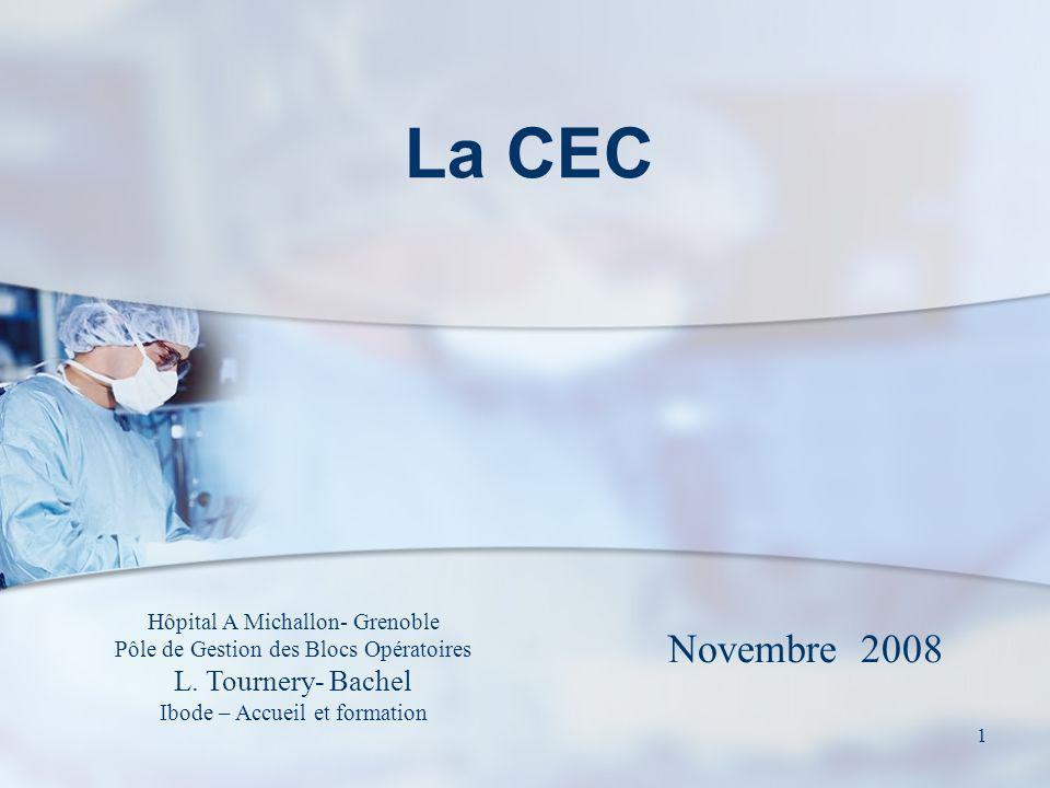 1 La CEC Hôpital A Michallon- Grenoble Pôle de Gestion des Blocs Opératoires L. Tournery- Bachel Ibode – Accueil et formation Novembre 2008