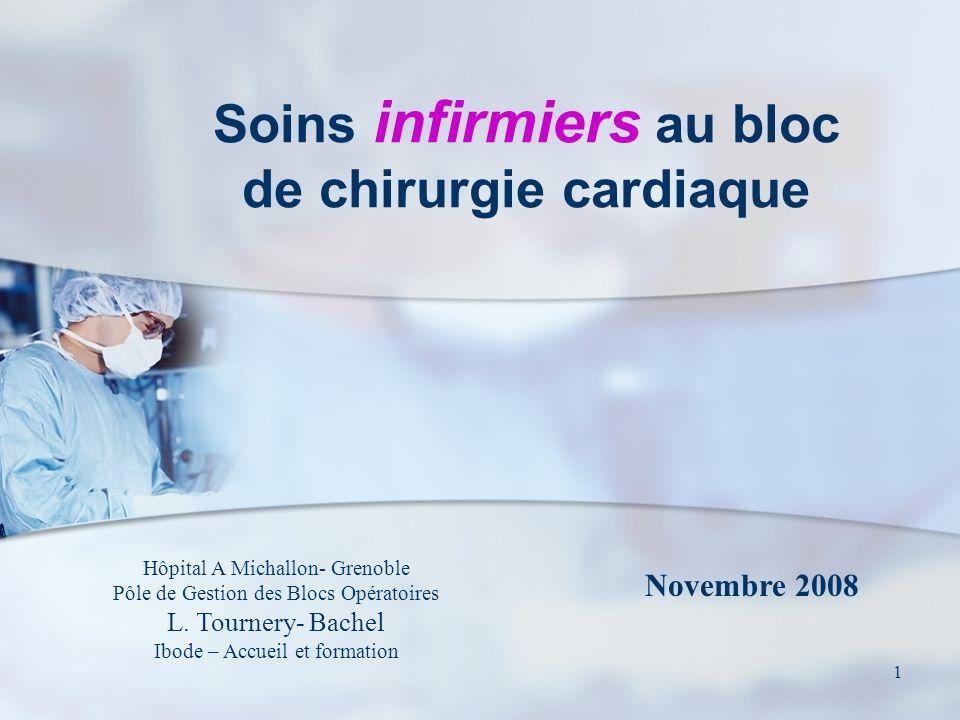 1 Soins infirmiers au bloc de chirurgie cardiaque Hôpital A Michallon- Grenoble Pôle de Gestion des Blocs Opératoires L. Tournery- Bachel Ibode – Accu