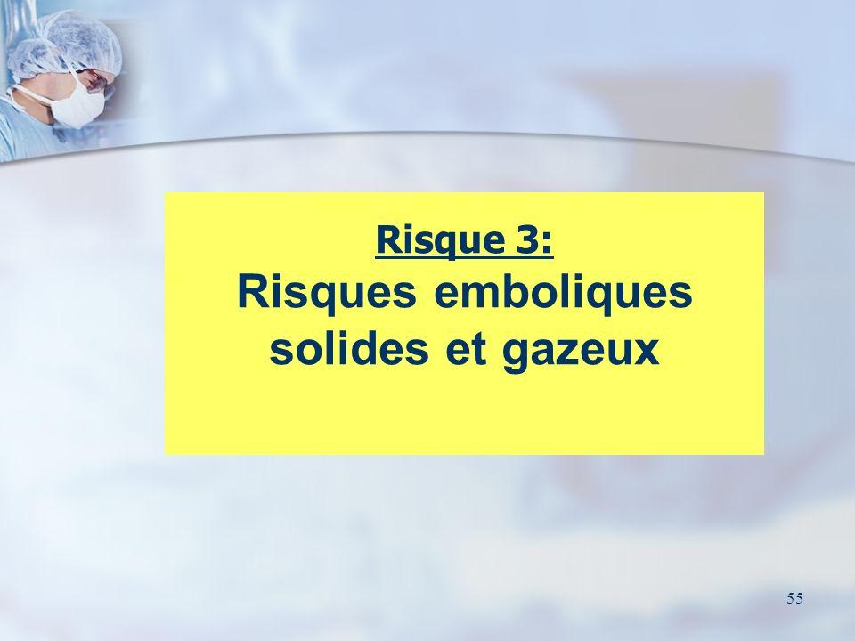 55 Risque 3: Risques emboliques solides et gazeux