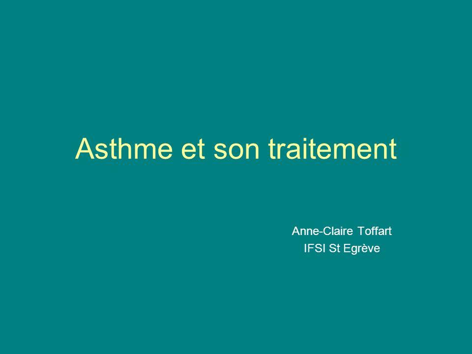 Plan Définition Epidémiologie Mécanisme de la maladie asthmatique Etiologie de l asthme Diagnostic de l asthme Traitement de l asthme