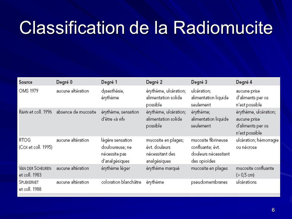 6 Classification de la Radiomucite
