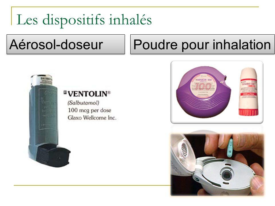 Les dispositifs inhalés Aérosol-doseur Poudre pour inhalation