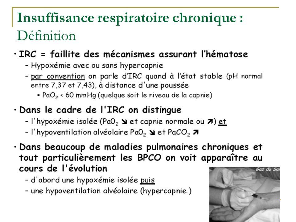 Insuffisance respiratoire chronique : Définition