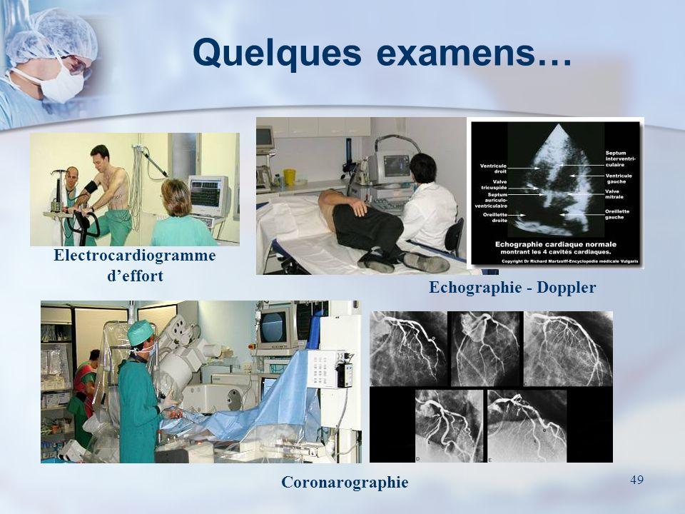 48 Examens et bilans Lacte chirurgical est une étape (majeure, certes) de la démarche thérapeutique Sa validité est subordonnée à une préparation rigo