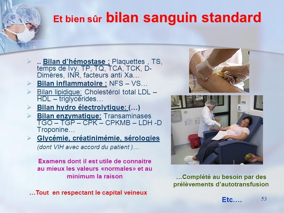 52 Sans oublier… Dépilation par tonte du menton aux pieds… barbe et OGE compris - Examen cytobactériologique des urines - Prélèvements bactériologique