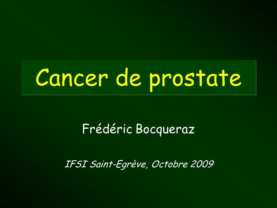 Cancer de prostate Frédéric Bocqueraz IFSI Saint-Egrève, Octobre 2009