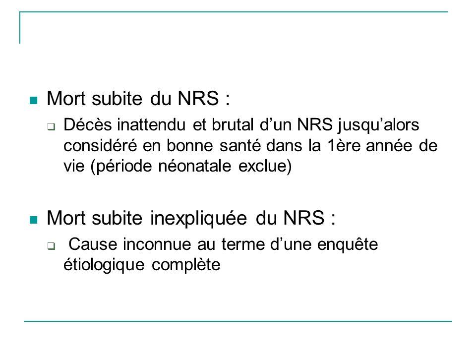 Souvent multifactorielle chez un enfant encore immature Etats infectieux RGO : cause de malaise grave mais relation avec la MSN discutée Troubles de la régulation respiratoire