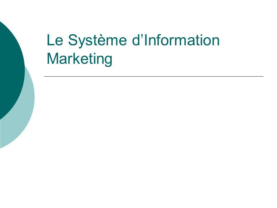 Le Système dInformation Marketing