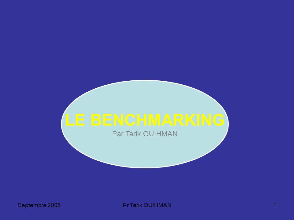 Septembre 2005Pr Tarik OUIHMAN1 LE BENCHMARKING Par Tarik OUIHMAN
