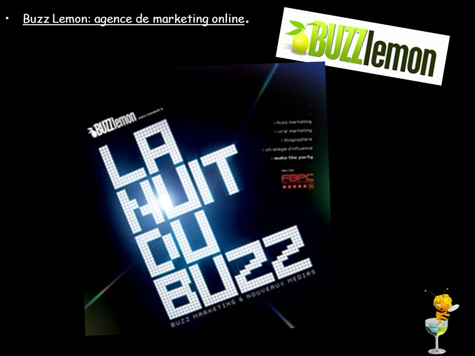 Buzz Lemon: agence de marketing online.