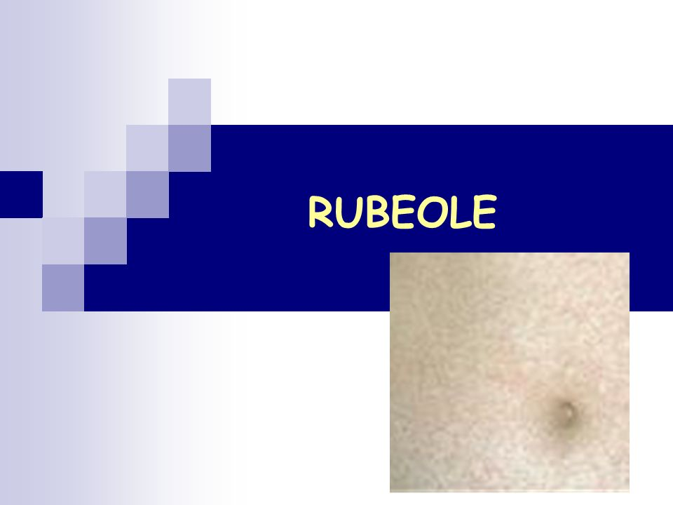Virus de la rubéole: Rubivirus, famille des Togaviridae Maladie éruptive contagieuse immunisante le plus souvent bénigne, voire inapparente dans sa forme acquise La gravité de laffection est due à la tératogénicité du virus : si linfection survient chez la femme enceinte (surtout lors du 1er trimestre de la grossesse), elle peut être responsable dun syndrome polymalformatif chez le foetus.