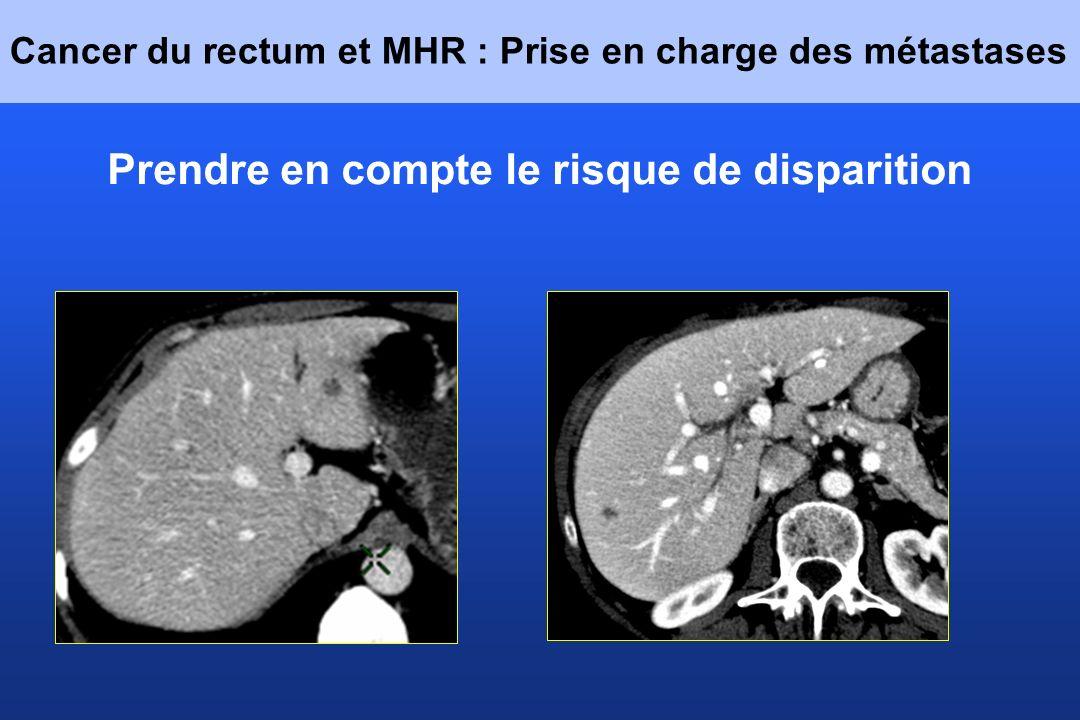 Cancer du rectum et MHR : Prise en charge des métastases Prendre en compte le risque de disparition