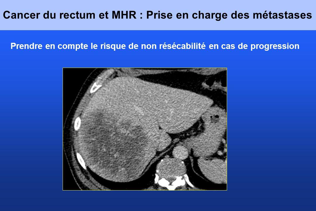 Cancer du rectum et MHR : Prise en charge des métastases Prendre en compte le risque de non résécabilité en cas de progression