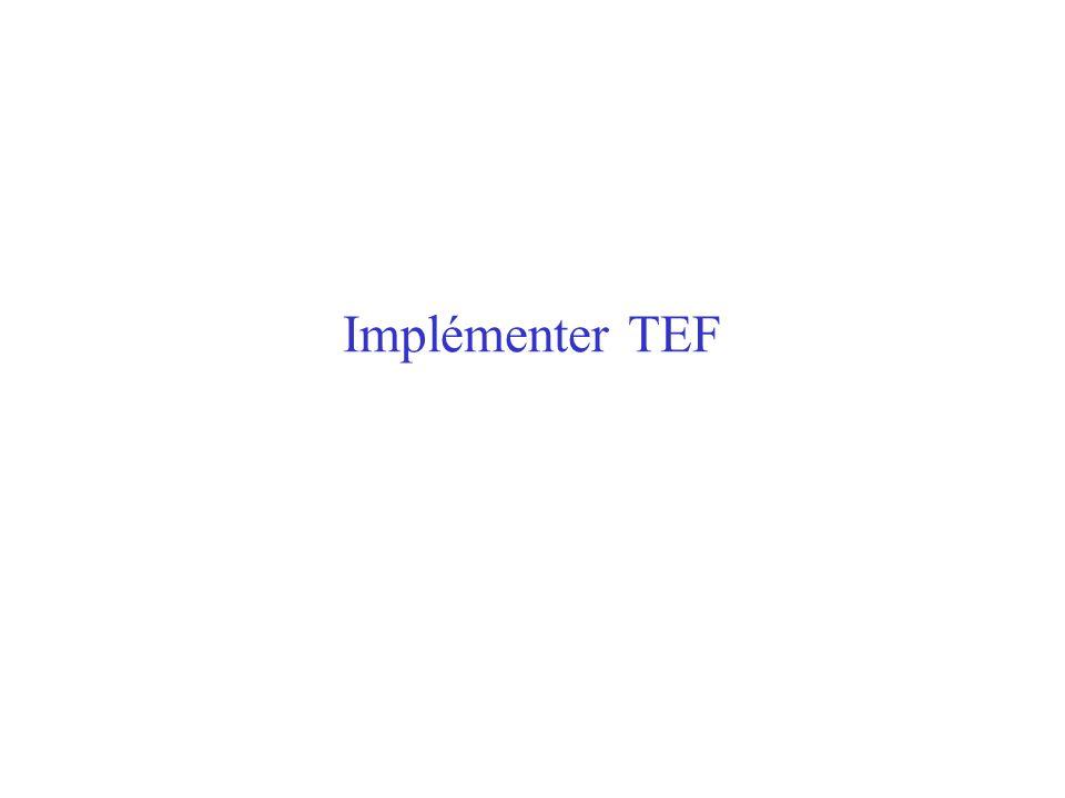 Implémenter TEF