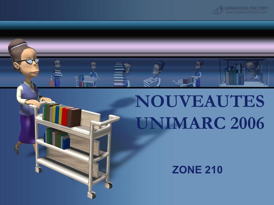 NOUVEAUTES UNIMARC 2006 ZONE 210