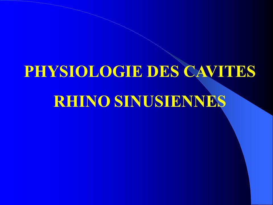 PHYSIOLOGIE DES CAVITES RHINO SINUSIENNES
