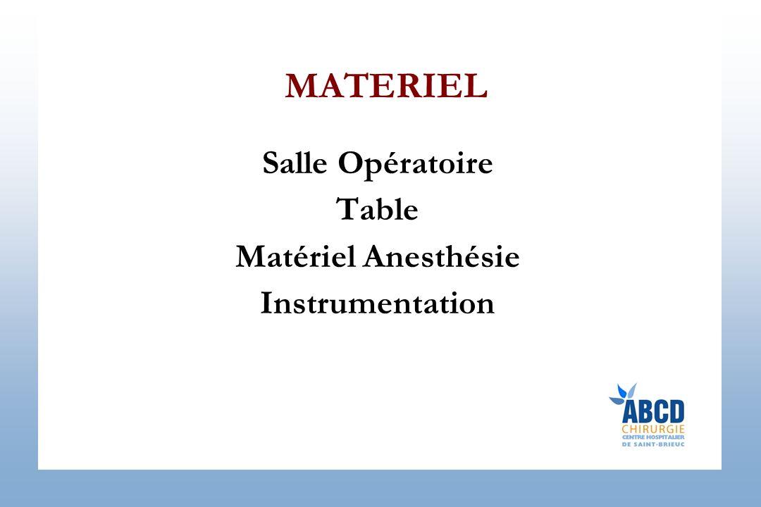 MATERIEL Salle Opératoire Table Matériel Anesthésie Instrumentation