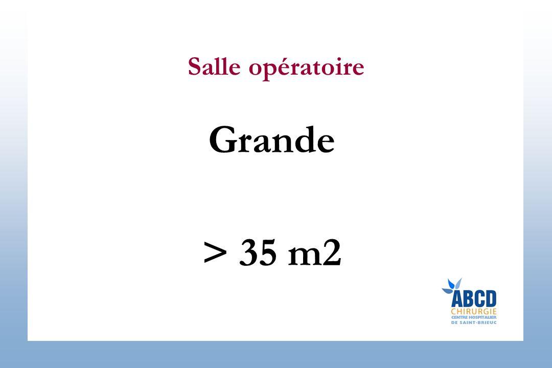 Salle opératoire Grande > 35 m2