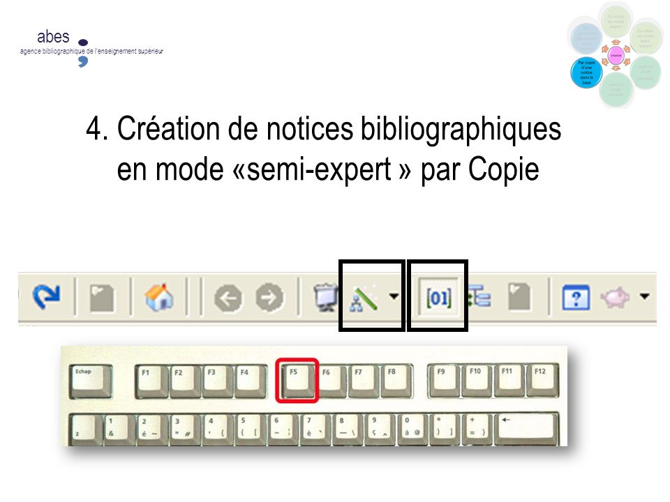 4. Création de notices bibliographiques en mode «semi-expert » par Copie abes agence bibliographique de lenseignement supérieur
