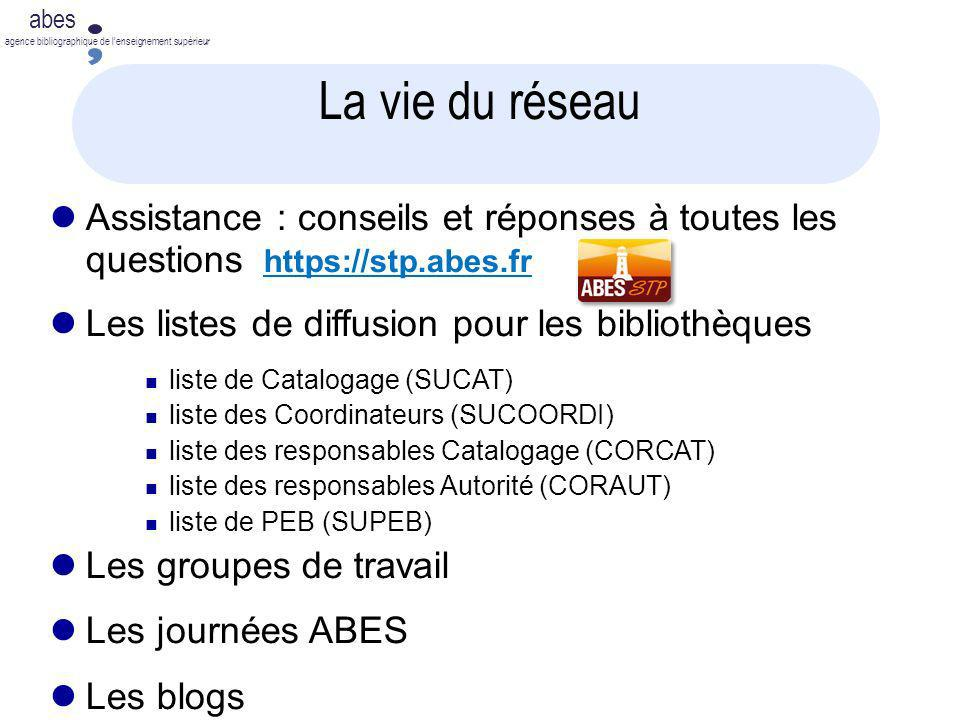 abes agence bibliographique de lenseignement supérieur La vie du réseau Assistance : conseils et réponses à toutes les questions https://stp.abes.frht