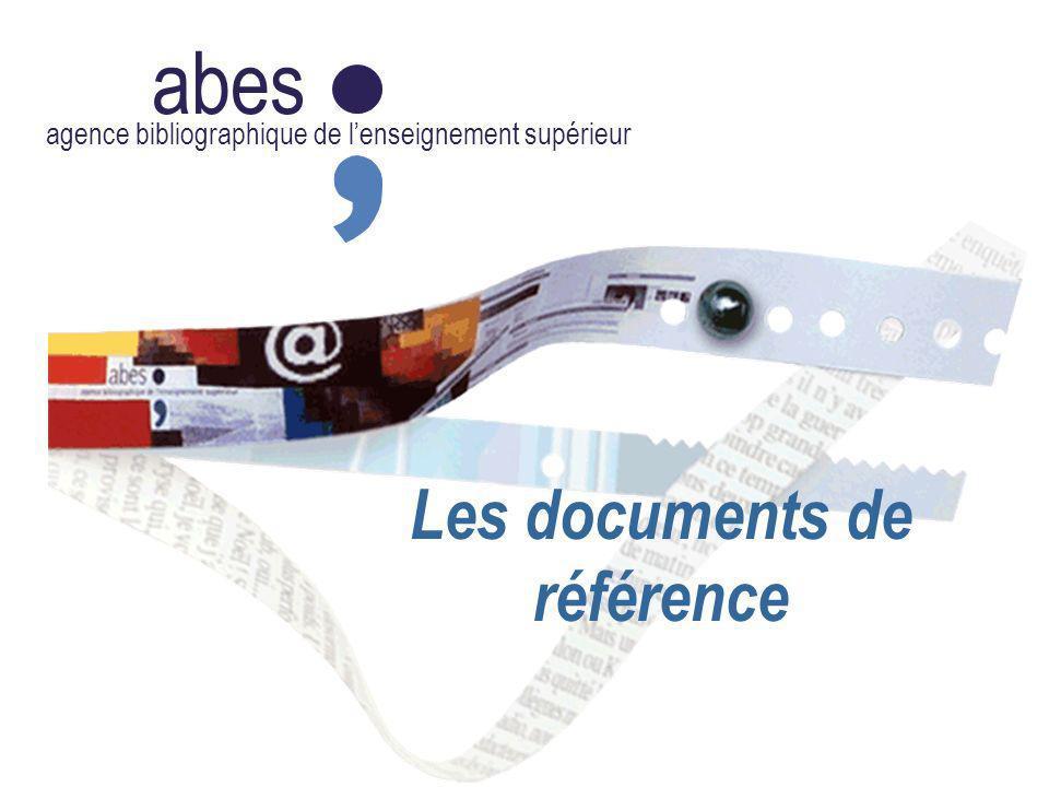 abes agence bibliographique de lenseignement supérieur Les documents de référence