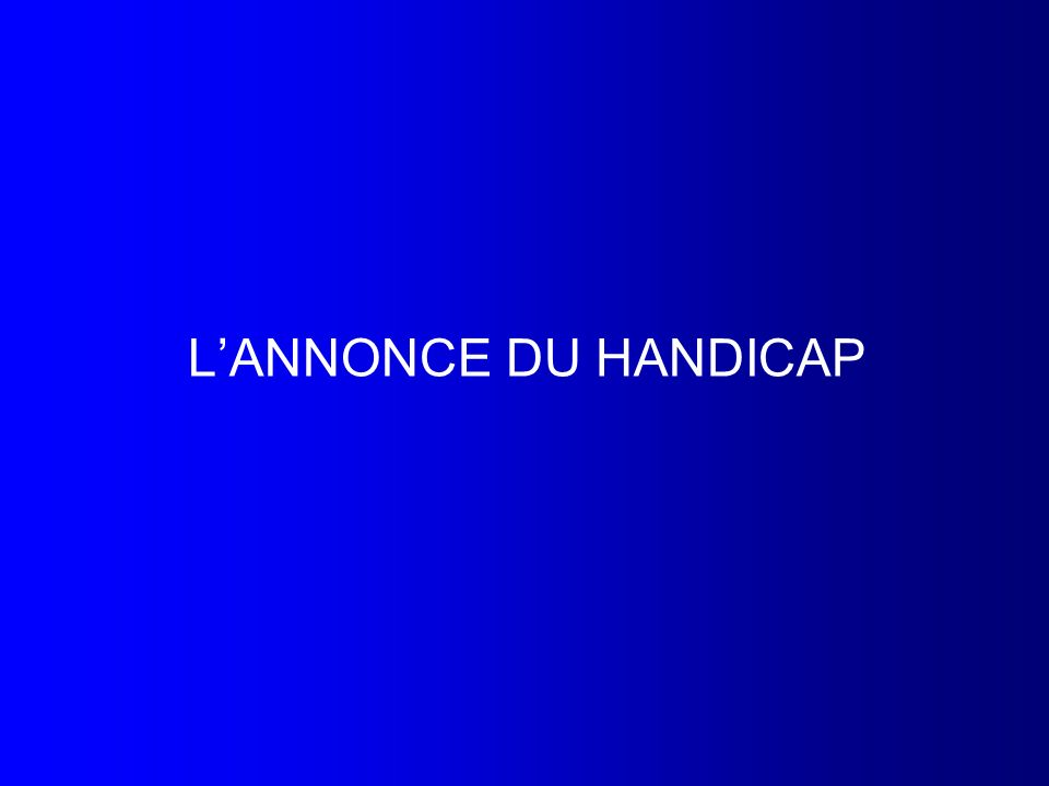 LANNONCE DU HANDICAP