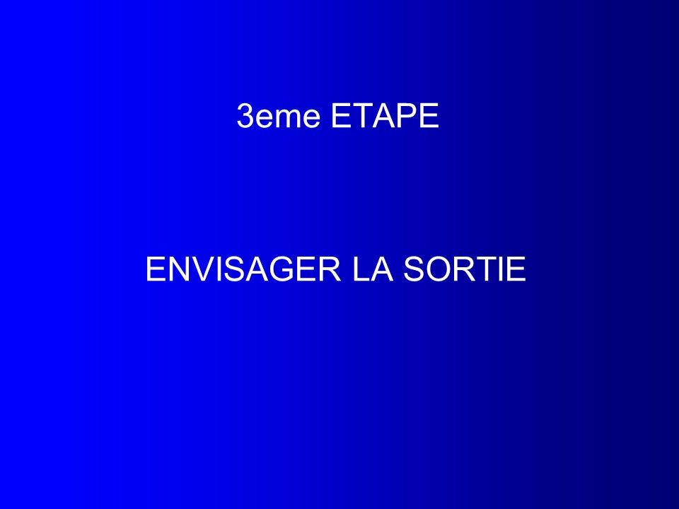 3eme ETAPE ENVISAGER LA SORTIE