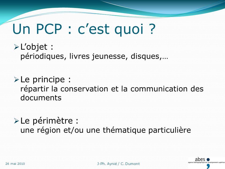 Un PCP : cest quoi .