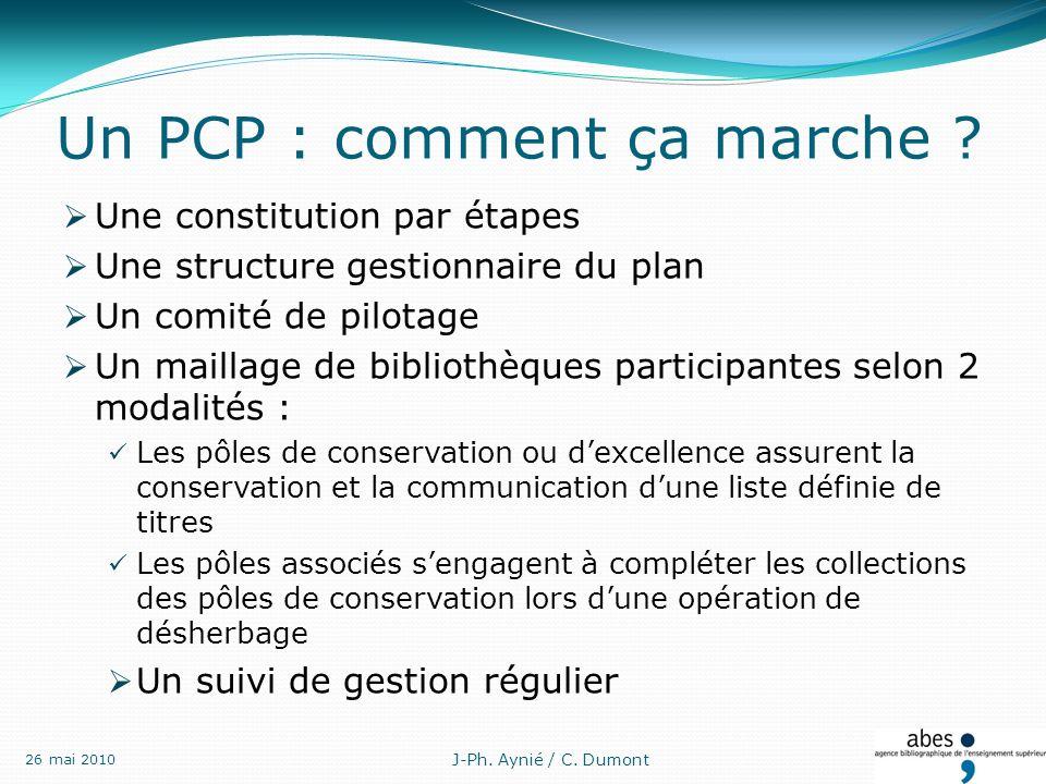 Un PCP : comment ça marche .