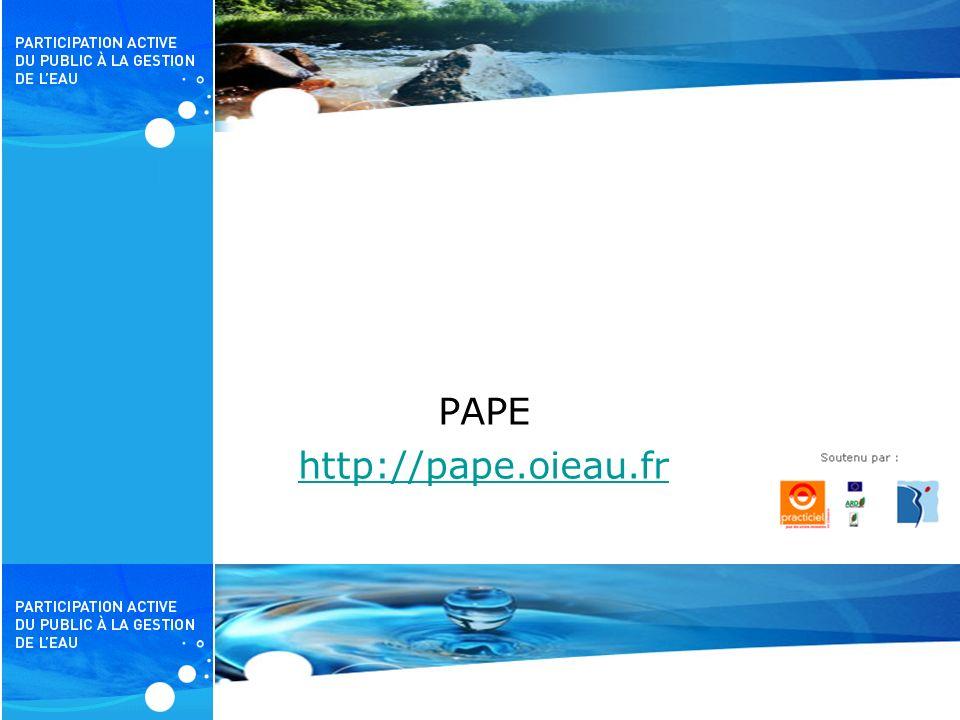 PAPE http://pape.oieau.fr