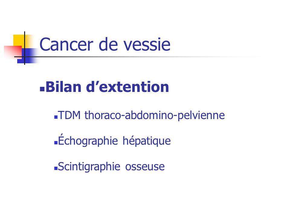 Bilan dextention TDM thoraco-abdomino-pelvienne Échographie hépatique Scintigraphie osseuse