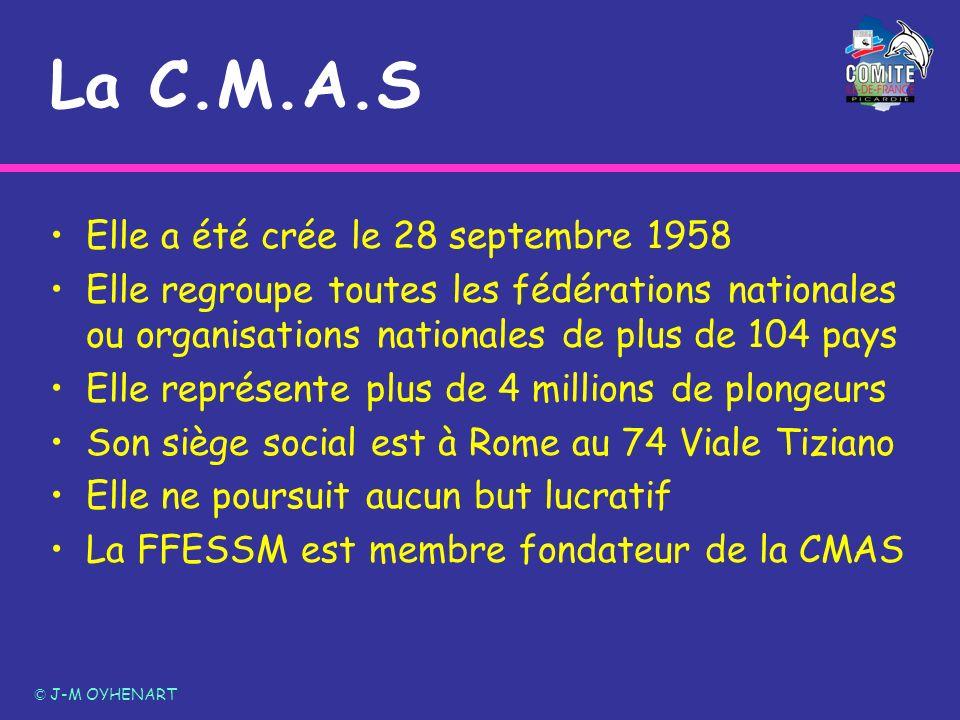 La C.M.A.S Elle a été crée le 28 septembre 1958 Elle regroupe toutes les fédérations nationales ou organisations nationales de plus de 104 pays Elle r