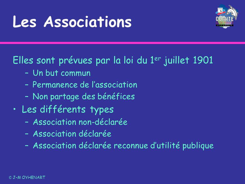 Les Associations Elles sont prévues par la loi du 1 er juillet 1901 –Un but commun –Permanence de lassociation –Non partage des bénéfices Les différen