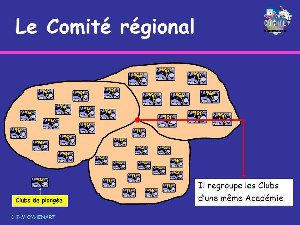 Le Comité régional © J-M OYHENART Clubs de plongée Il regroupe les Clubs dune même Académie