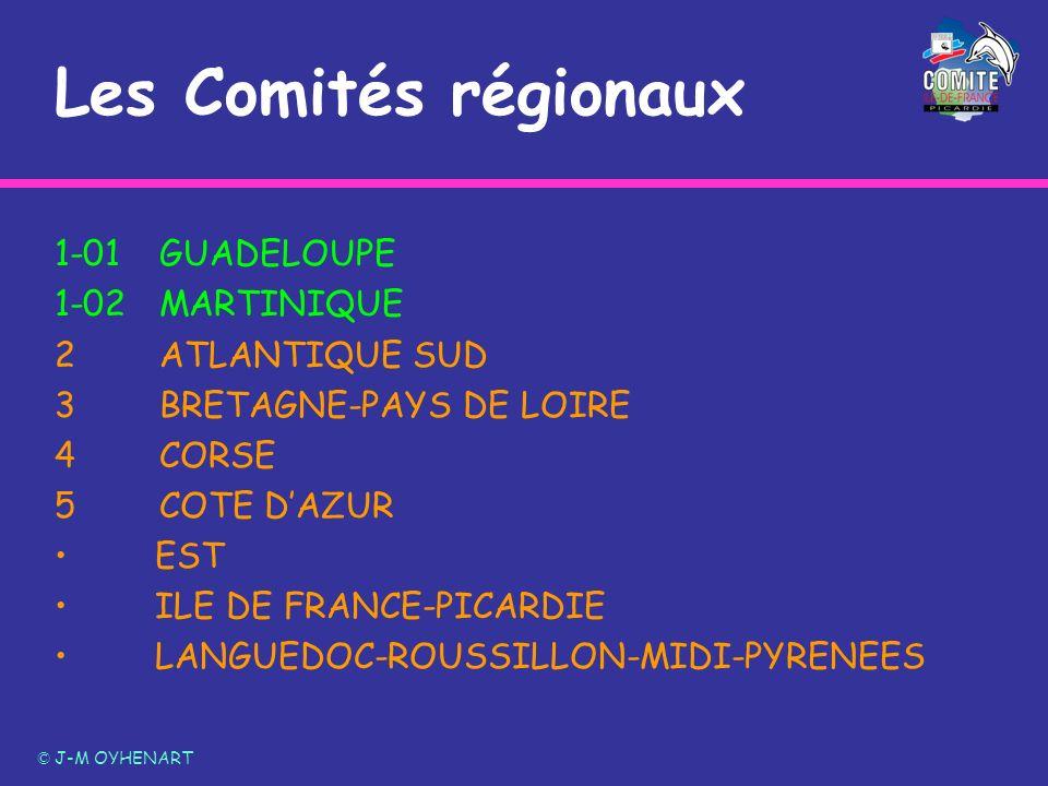Les Comités régionaux 1-01GUADELOUPE 1-02MARTINIQUE 2ATLANTIQUE SUD 3BRETAGNE-PAYS DE LOIRE 4CORSE 5COTE DAZUR EST ILE DE FRANCE-PICARDIE LANGUEDOC-RO