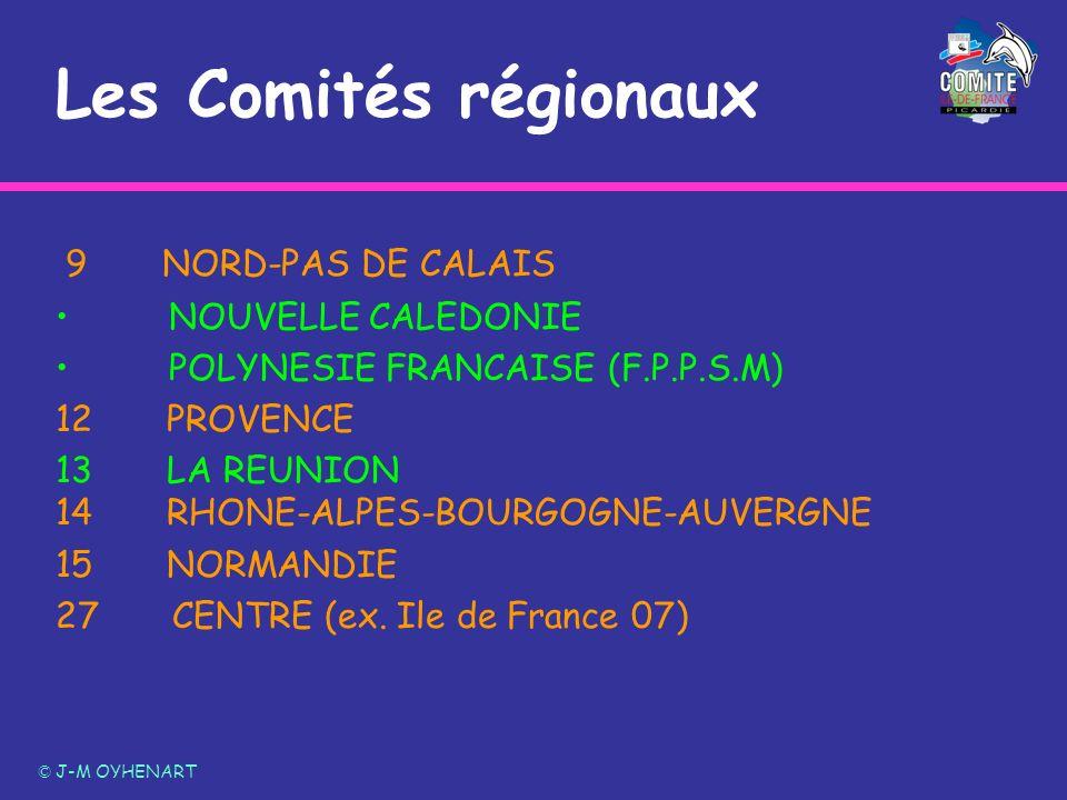 Les Comités régionaux 9NORD-PAS DE CALAIS NOUVELLE CALEDONIE POLYNESIE FRANCAISE (F.P.P.S.M) 12 PROVENCE 13 LA REUNION 14 RHONE-ALPES-BOURGOGNE-AUVERG