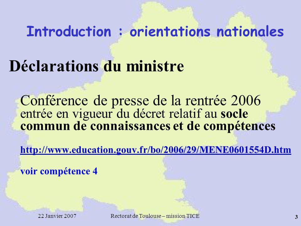22 Janvier 2007Rectorat de Toulouse – mission TICE 44 Questions sur Le filtre anti-spam académique Les listes sympa