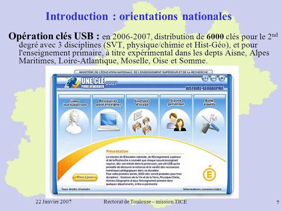 22 Janvier 2007Rectorat de Toulouse – mission TICE 28 Assistance TIC Nombre de dossiers 1 er degré de sept 2006 au 10 janvier 2007 par dépt selon la nature des appels (domicile ou école)