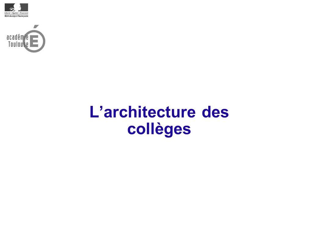 Larchitecture des collèges