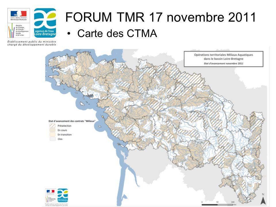 2 FORUM TMR 17 novembre 2011 Carte des CTMA