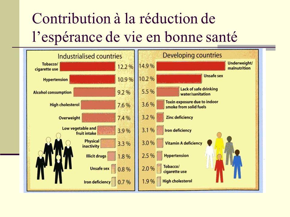 Contribution à la réduction de lespérance de vie en bonne santé