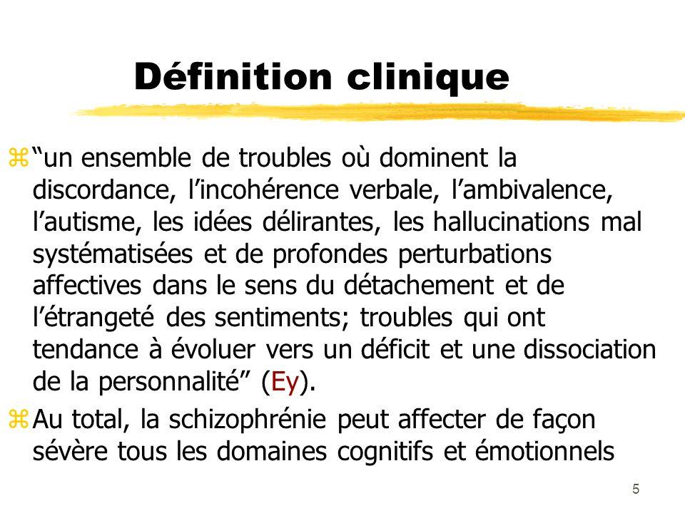 6 Définition critérielle (DSM IV) zCritère A.