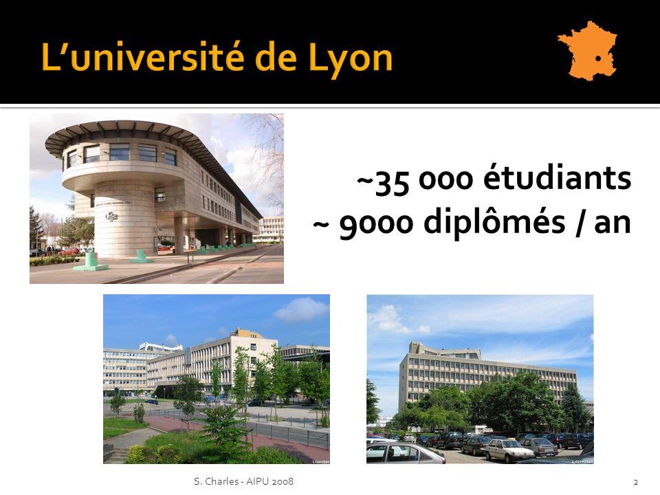 2S. Charles - AIPU 2008 ~35 000 étudiants ~ 9000 diplômés / an