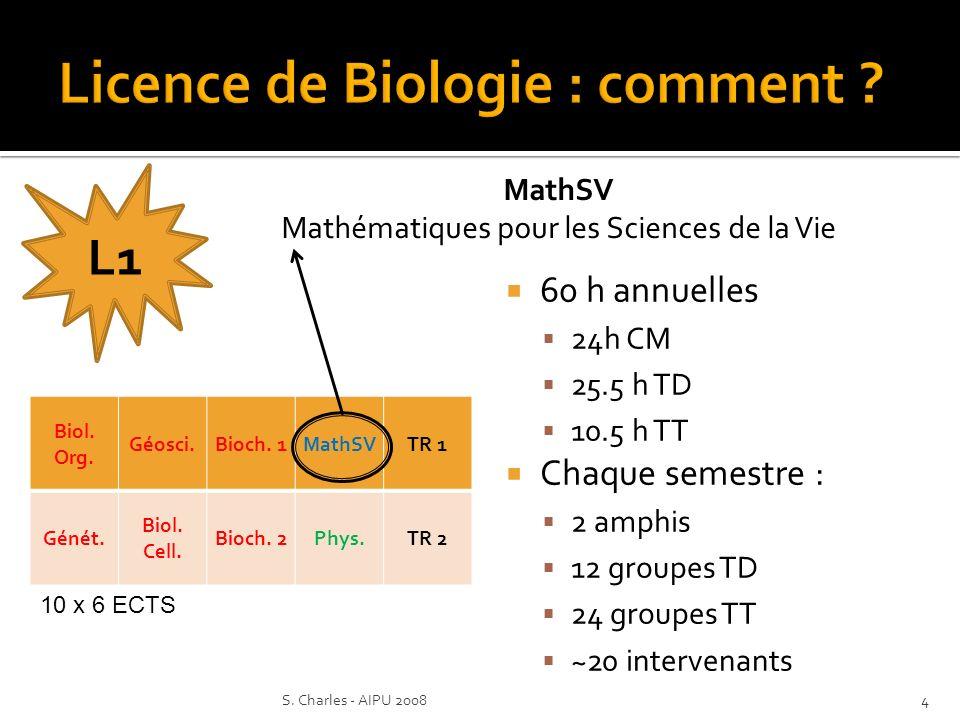 Biol. Org. Géosci.Bioch. 1MathSVTR 1 Génét. Biol.