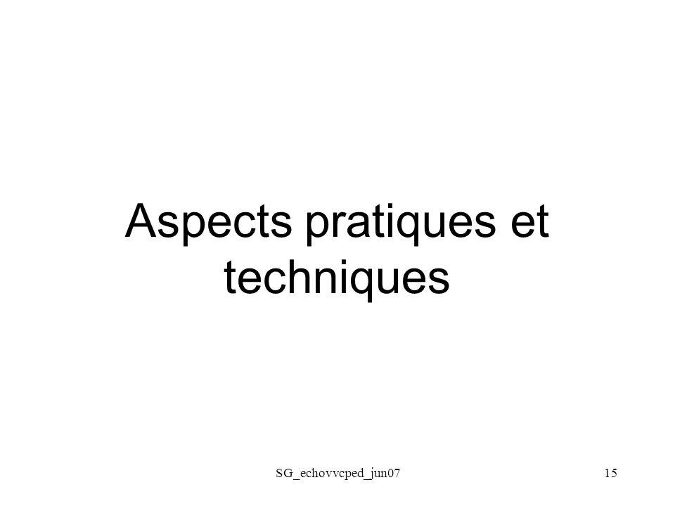 SG_echovvcped_jun0715 Aspects pratiques et techniques