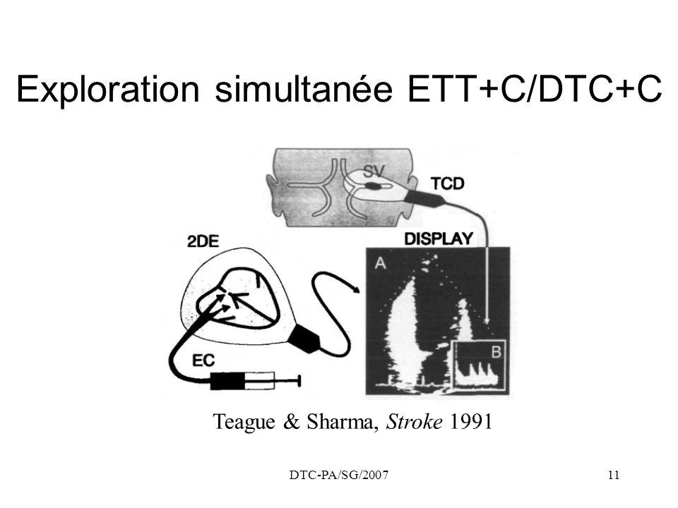 DTC-PA/SG/200711 Exploration simultanée ETT+C/DTC+C Teague & Sharma, Stroke 1991