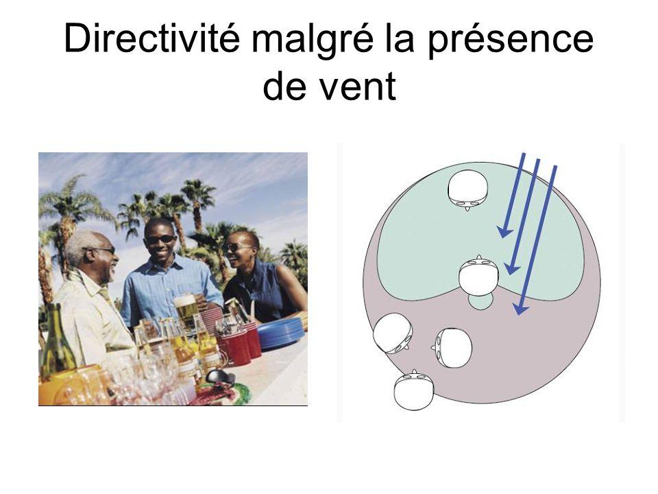 3- La directivité complète -Directif sur toutes les fréquences Situations: environnements sonores forts, rapport signal/bruit mauvais donc directif (e